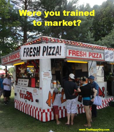 Were you trained to market?