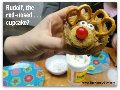 Rudolf the red-nosed cupcake!