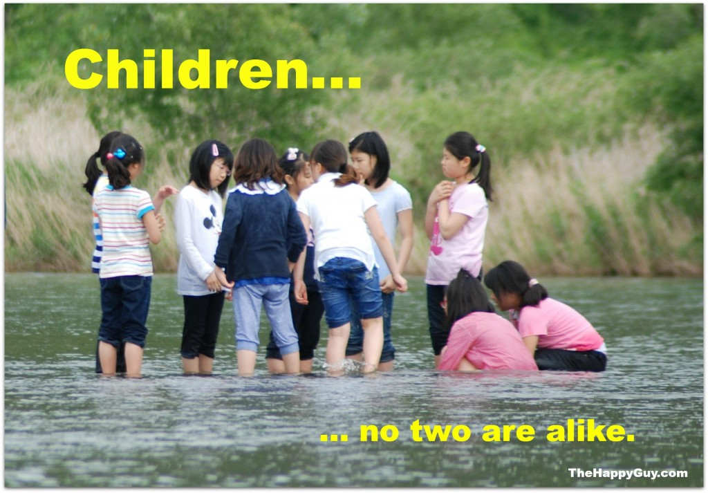 children - no two are alike