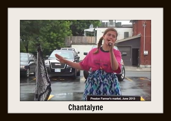 Chantalyne singing at the Preston Street Farmer's Market