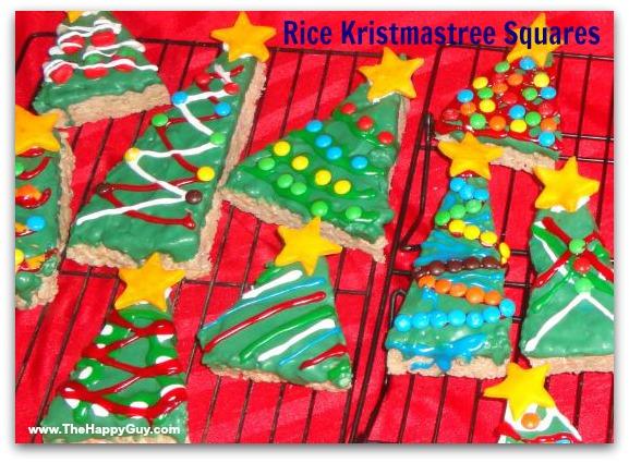 Rice Kristmastree Squares!