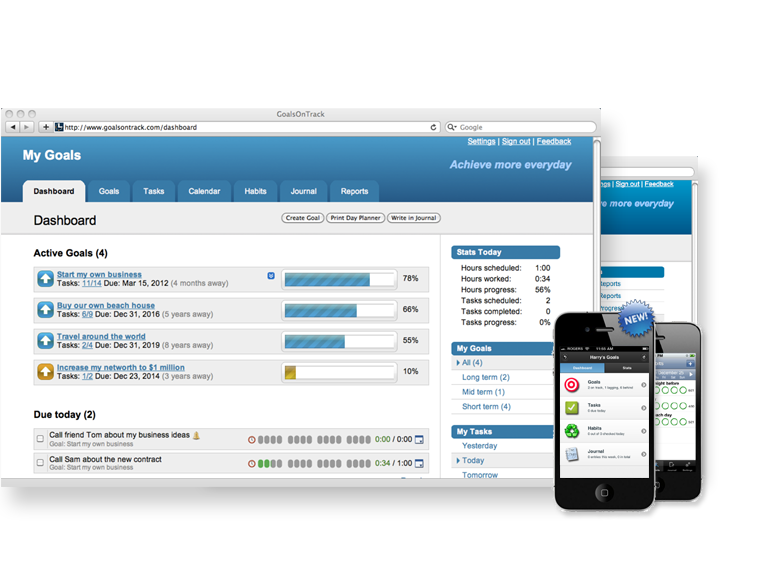Easy-to-use goal-setting and goal-tracking software
