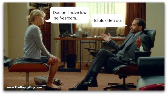Self-esteem cartoon humor