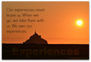 We own our experiences.
