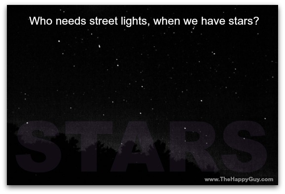 Stars and street lights