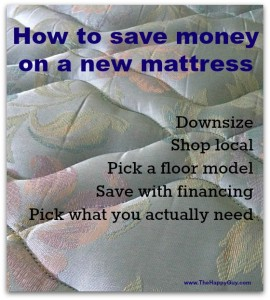 How to save money on a new mattress