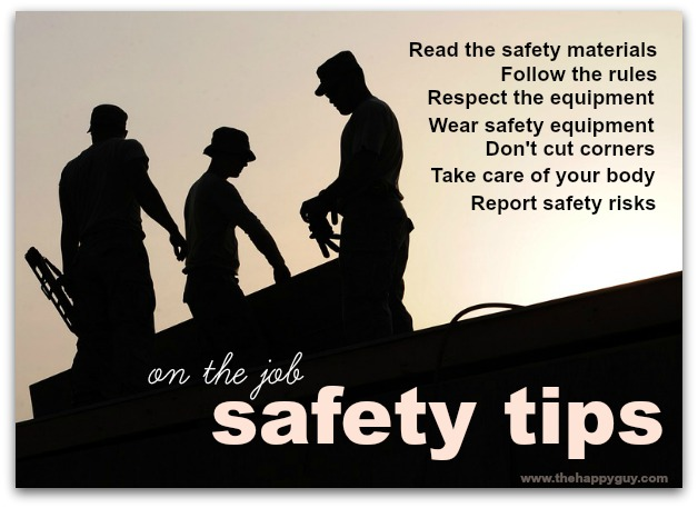work safety tips