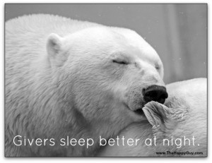 Givers sleep better