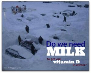 Do we need milk to get our vitamin D in winter?