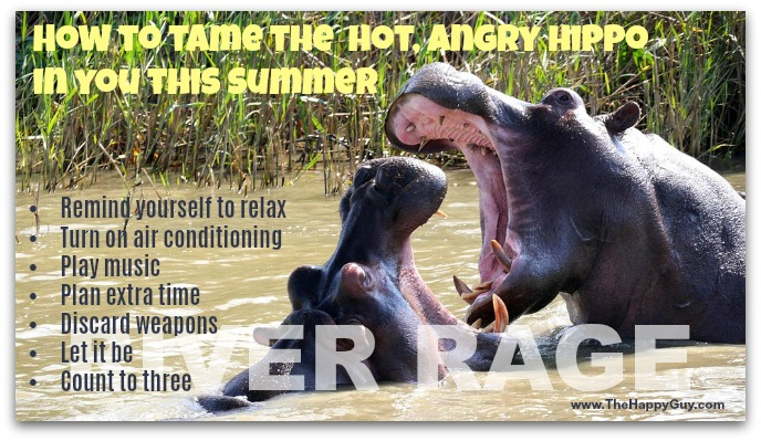 How to tame the hot, angry hippo in you this summer